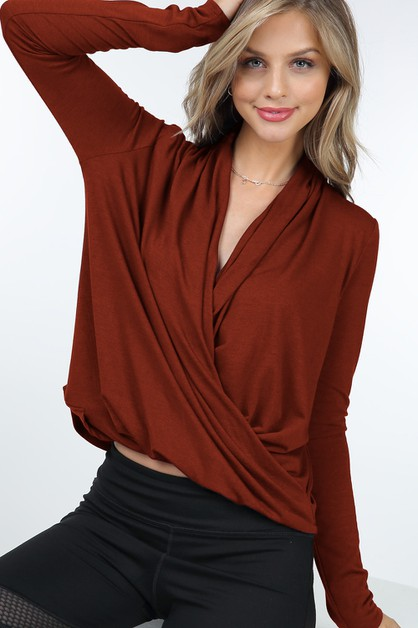 Long Sleeve Crossover V Surplice Nec - orangeshine.com