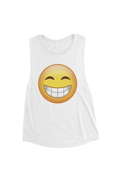 Emoji-Smiling Muscle Top - orangeshine.com
