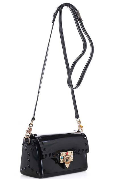 STUDDED TENDER JELLY CROSSBODY BAG - orangeshine.com