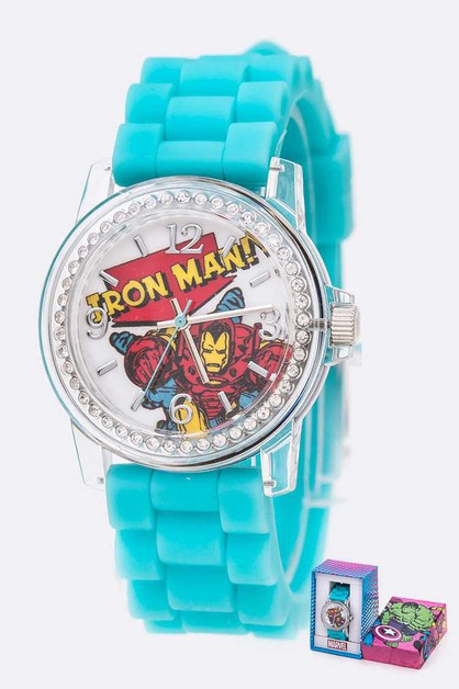 Iron Man Marvel Jelly Band Kids Watc - orangeshine.com