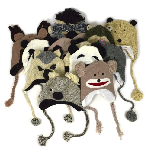 24pc Random Assorted Knit Animal Hat - orangeshine.com