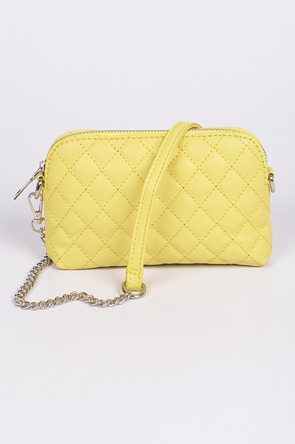 Quilted Monotone Crossbody Bag - orangeshine.com