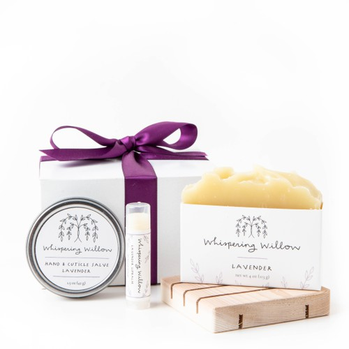 Lavender Eco Friendly Gift Box - orangeshine.com