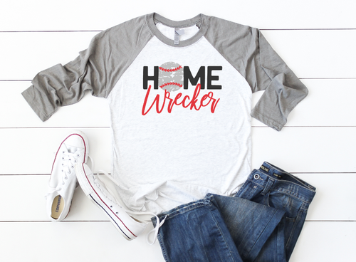 HOMEWRECKER BASEBALL  RAGLAN - orangeshine.com