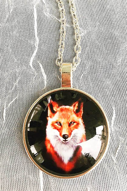 Handsome fox necklace  - orangeshine.com