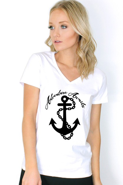 ANCHOR PRINTED TEE - orangeshine.com