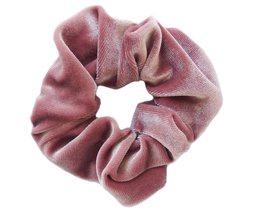 Blush Pink Velvet Scrunchie - orangeshine.com