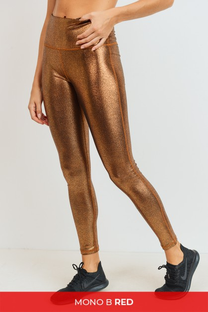 Highwaist Foil Scale Print Full Legg - orangeshine.com