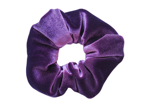 Purple Velvet Scrunchie - orangeshine.com