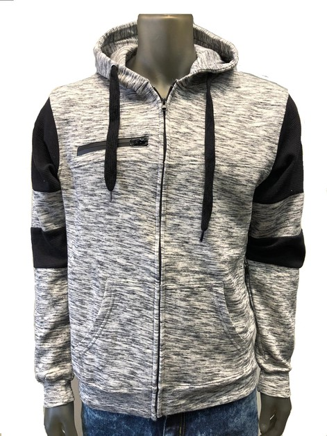 BFH902 MENS ZIPPER FLEECE HOODIE - orangeshine.com