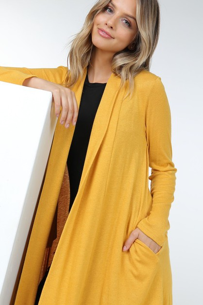 Faux Cashmere Casual Long Sleeve Car - orangeshine.com