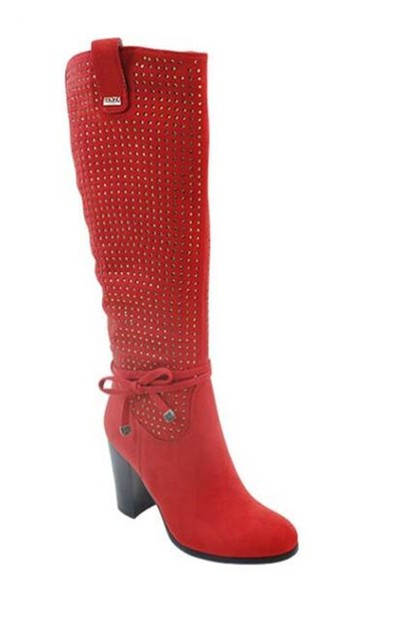 Chunky Heel Riding Boots - orangeshine.com