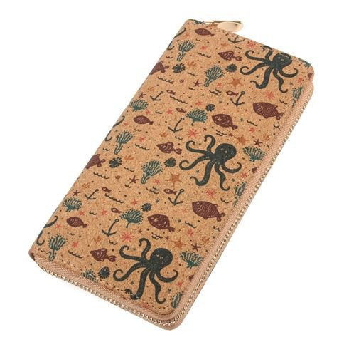 OCTOPUS PRINT ZIPPER WALLET - orangeshine.com