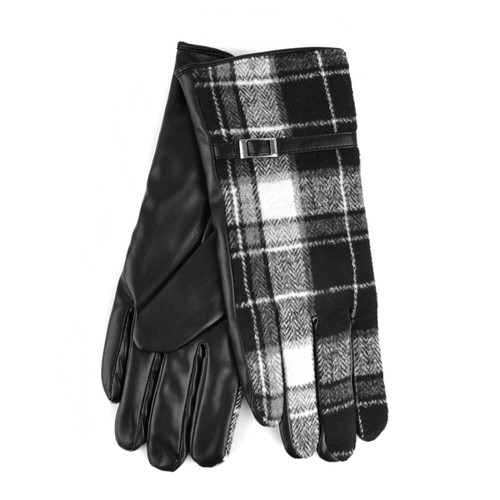 Womens Plaid Touch Screen Gloves - orangeshine.com