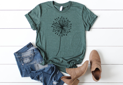 DANDELION MAKE A WISH TEE - orangeshine.com