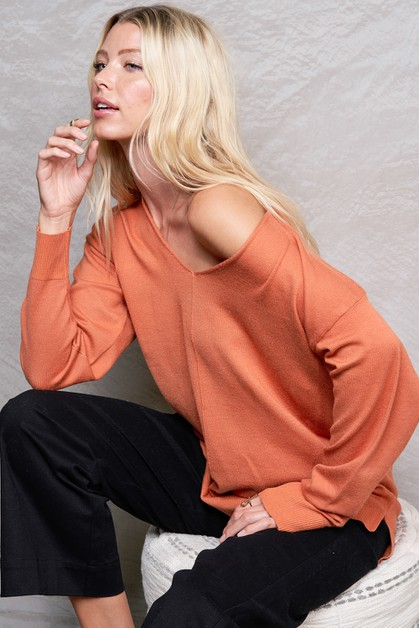 High Quality V neck Sweater - orangeshine.com