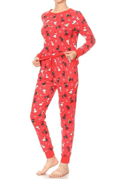 Christmas Sets Fleece Pajamas Winter - orangeshine.com