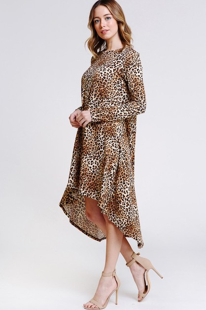 Hi Low Cheetah Print Dresses - orangeshine.com