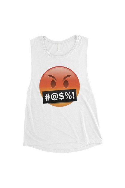 Emoji-Angry Muscle Top - orangeshine.com