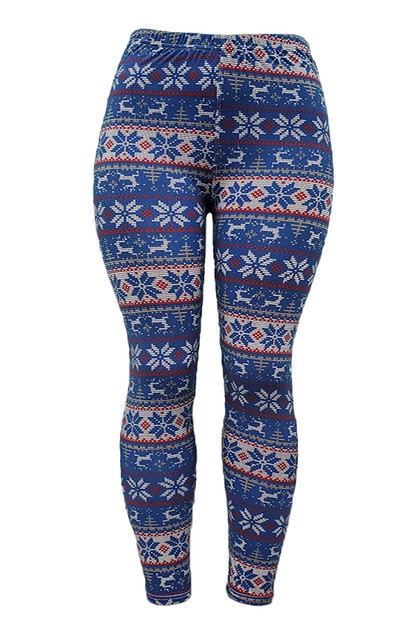 SOFT LEGGINGS WITH CHRISTMAS PRINT - orangeshine.com