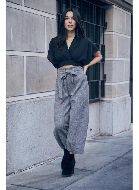 TIE WAIST WIDE LEG PANTS - orangeshine.com