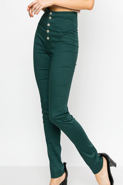 JEGGING WITH BUTTON FRONT DETAILS - orangeshine.com