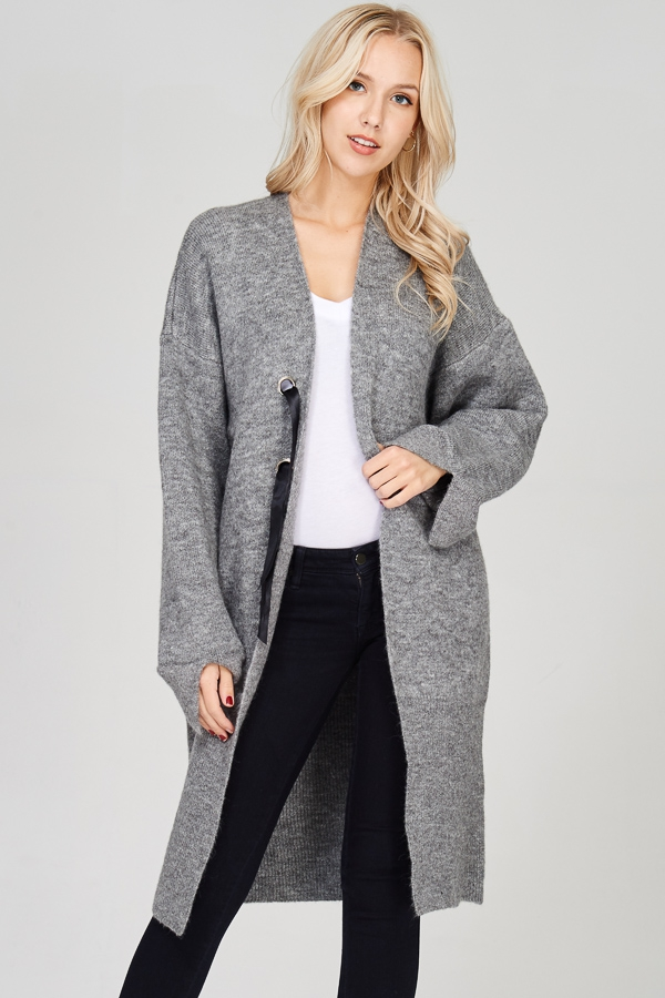 OVERSIZE KNIT SWEATER CARDIGAN  - orangeshine.com