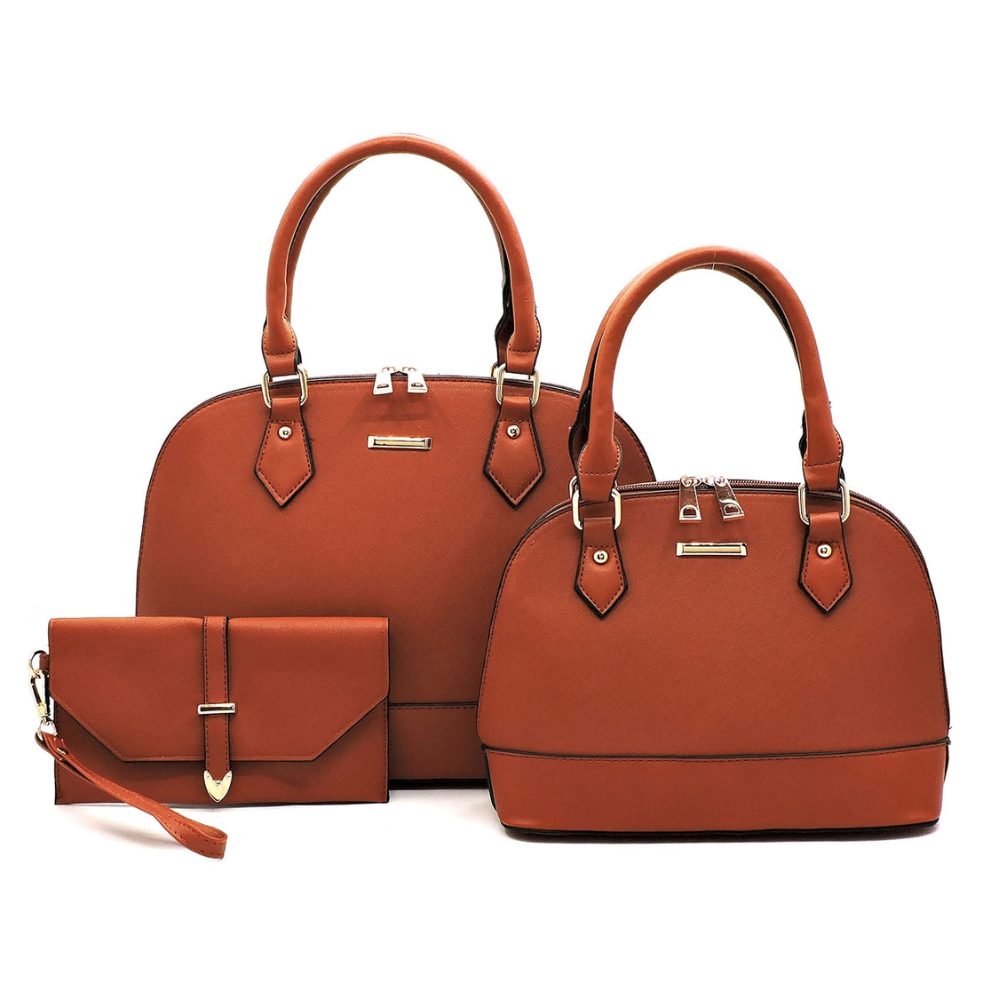 Saffiano Textured 3-in-1 Dome Bag - orangeshine.com