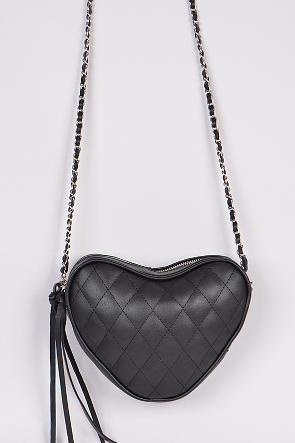 Quilted Heart Clutch - orangeshine.com