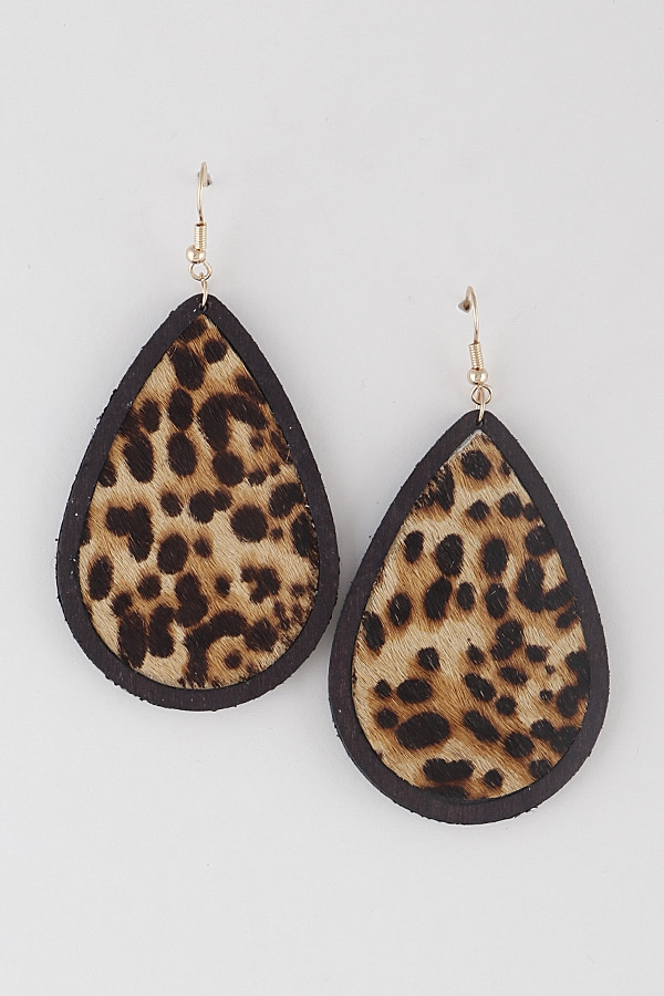 Leopard Picture Frame Earrings - orangeshine.com