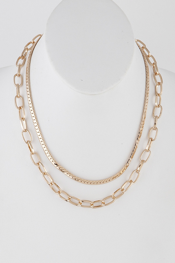 Double Layer Chain Necklace - orangeshine.com