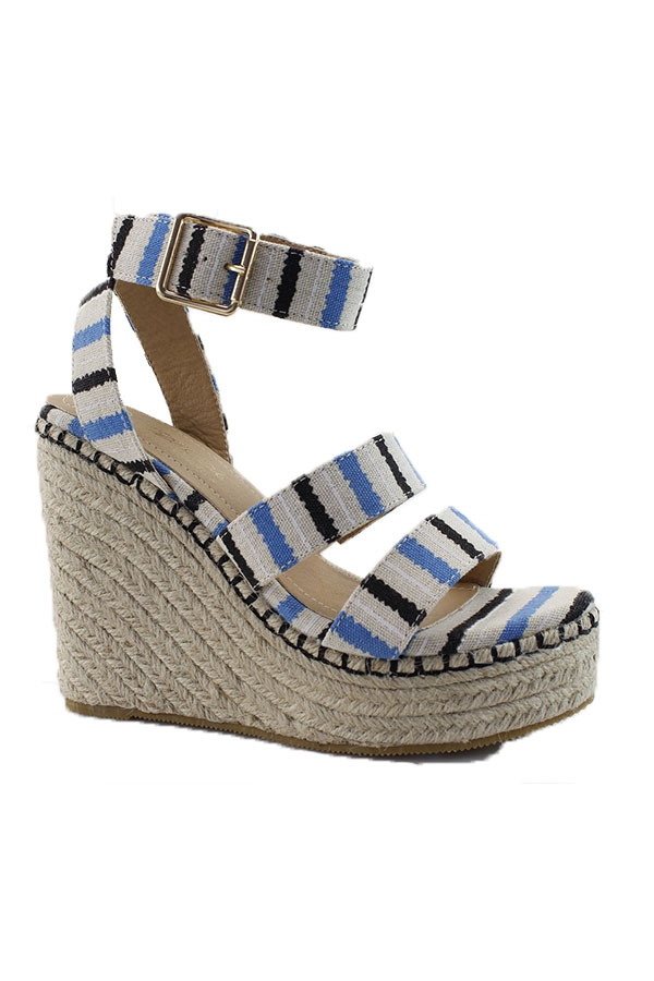 PRINTED ESPADRILLE OPEN WEDGE WITH B - orangeshine.com