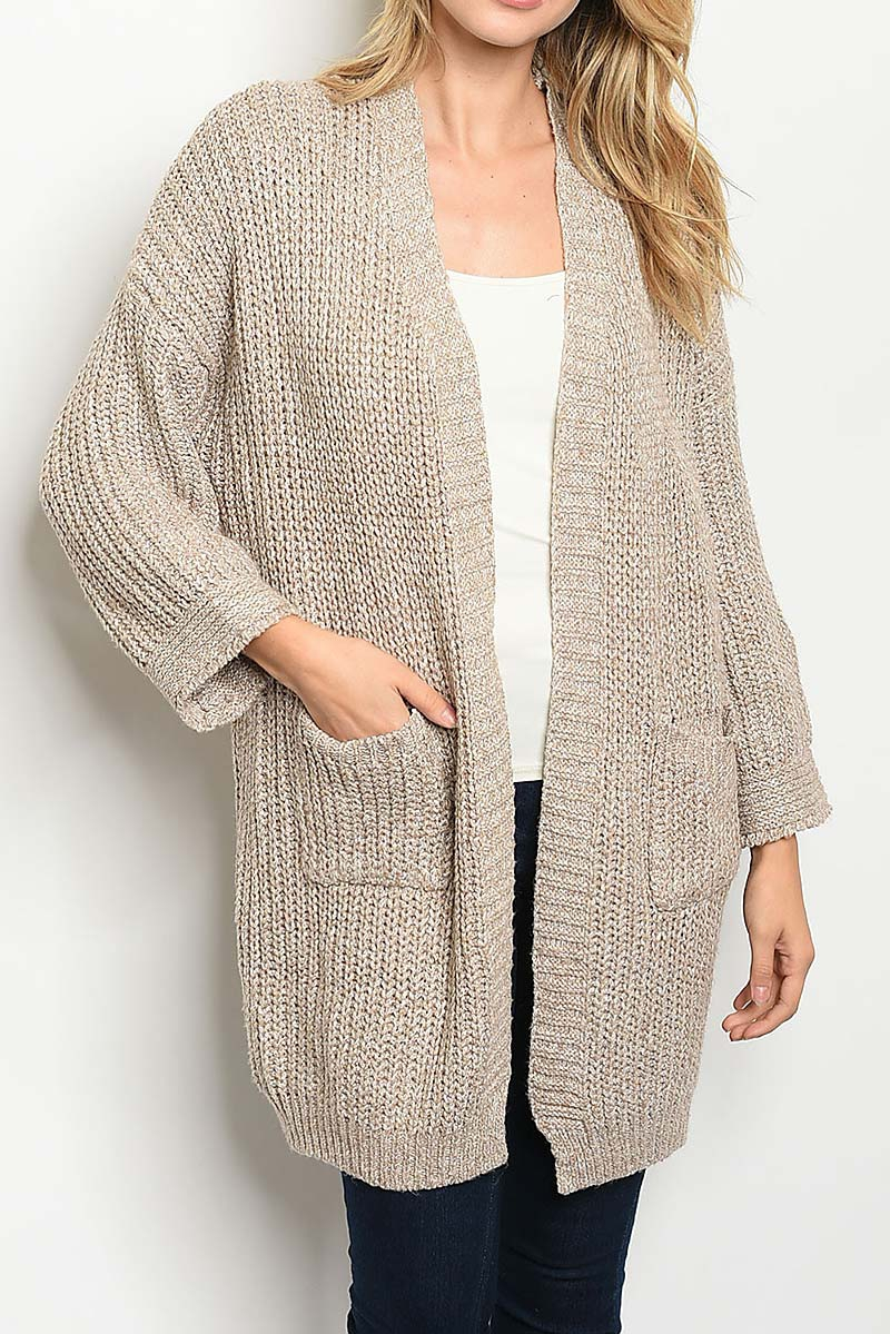 OPEN FRONT LOOSE FIT SWEATER - orangeshine.com
