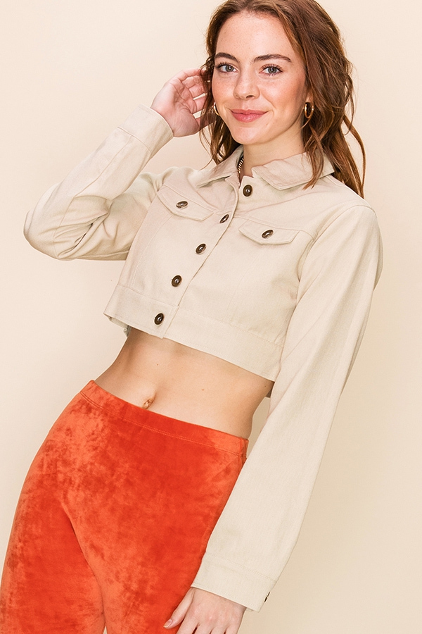 CROPPED JACKET - orangeshine.com