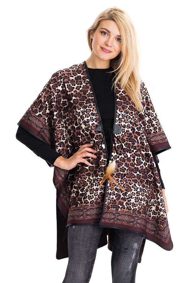 Slit Sided Open Silhouette Poncho - orangeshine.com