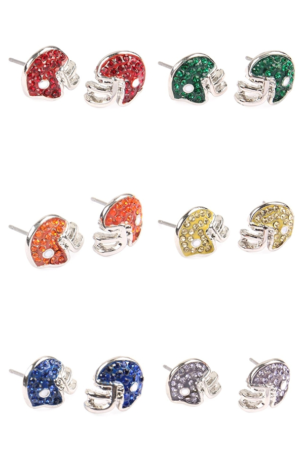 FOOTBALL HELMET EPOXY EARRINGS - orangeshine.com