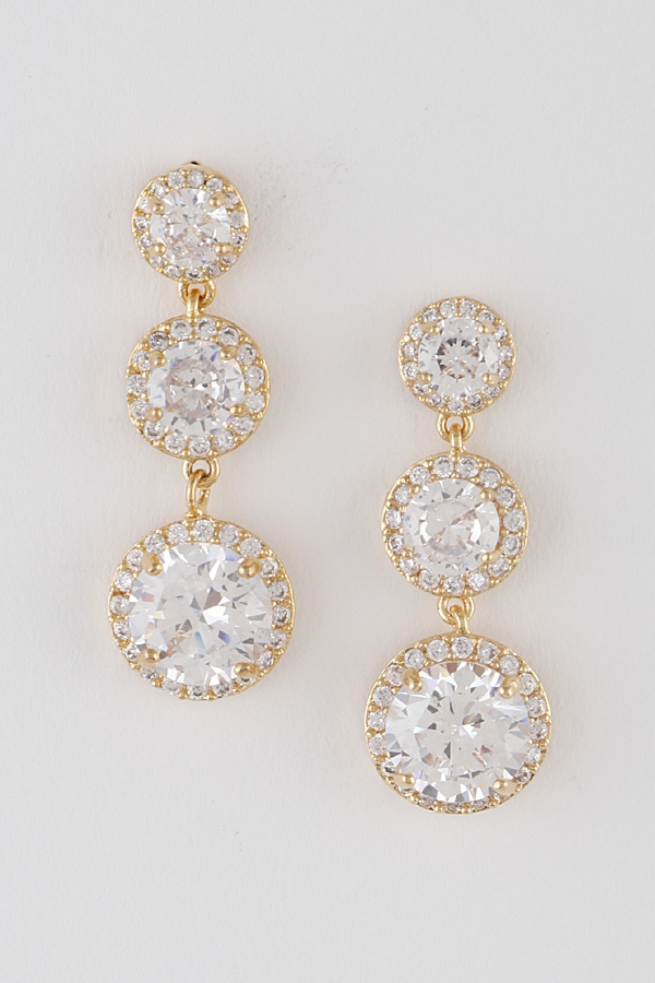 Luxury Linked Drop Earrings - orangeshine.com