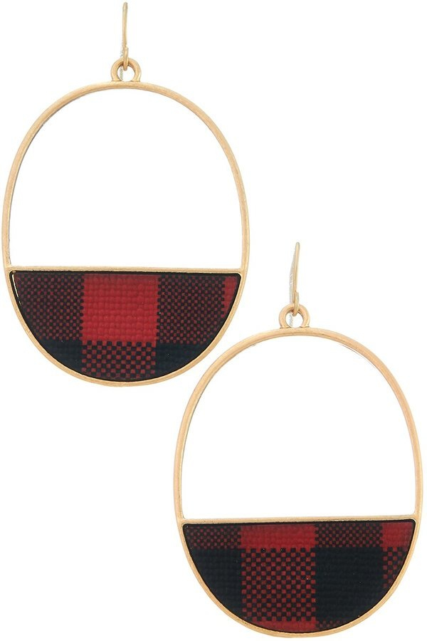 Half moon oval hoop earrings - orangeshine.com
