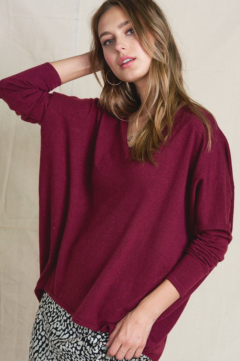 Super Soft High Quality V neck Top - orangeshine.com