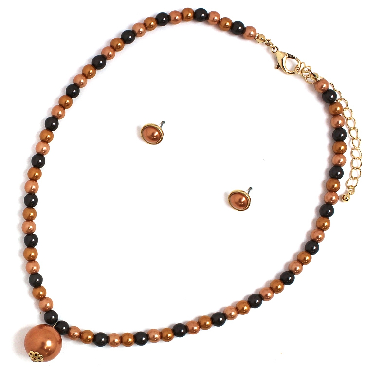 CIRCLE PEARL LINKED PENDANT NECKLACE - orangeshine.com