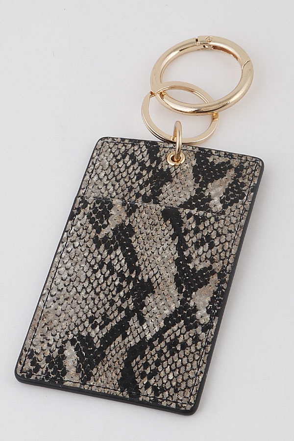 Animal Print Card Case Key Chain - orangeshine.com