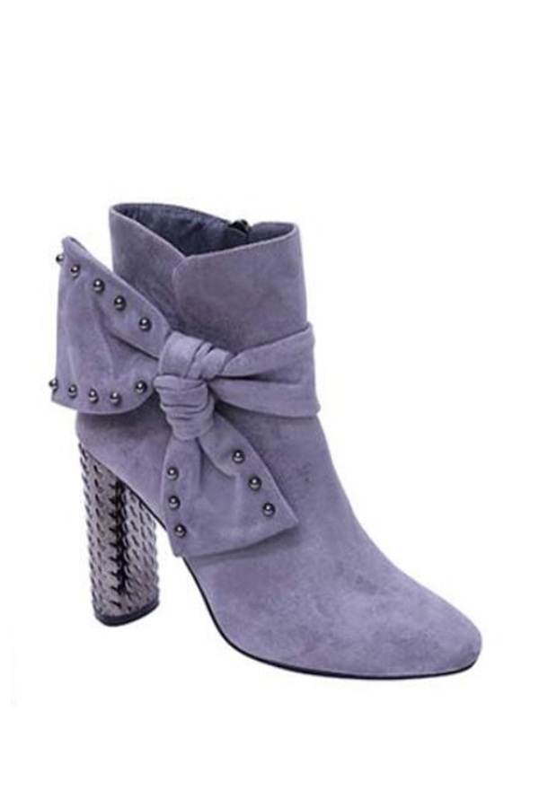 Bow Chunky High heel booties - orangeshine.com