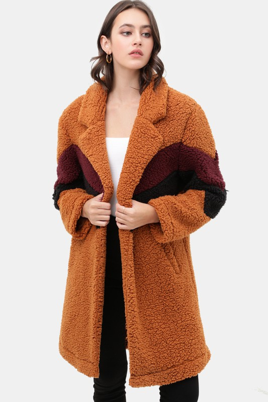 Teddy Bear Faux Fur Coat - orangeshine.com