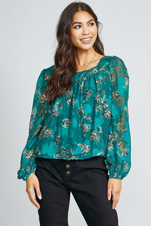 CARRIED AWAY BLOUSE - orangeshine.com