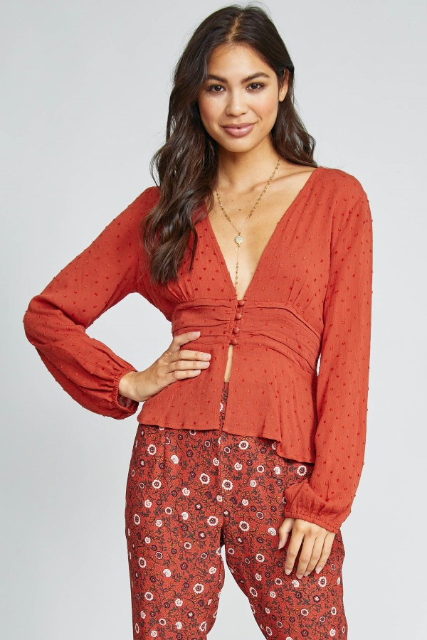 WILD AT HEART BLOUSE - orangeshine.com