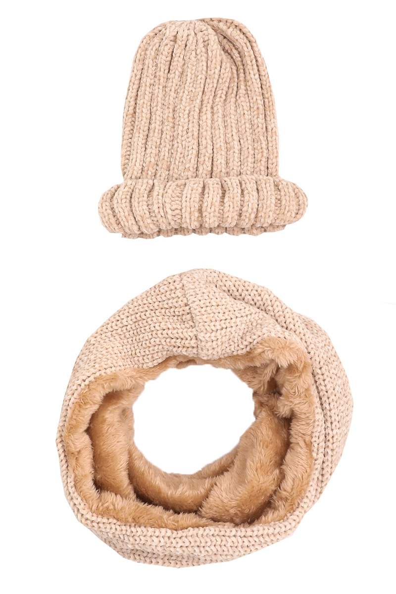 Knit Beanie And Infinity Scarf Set - orangeshine.com