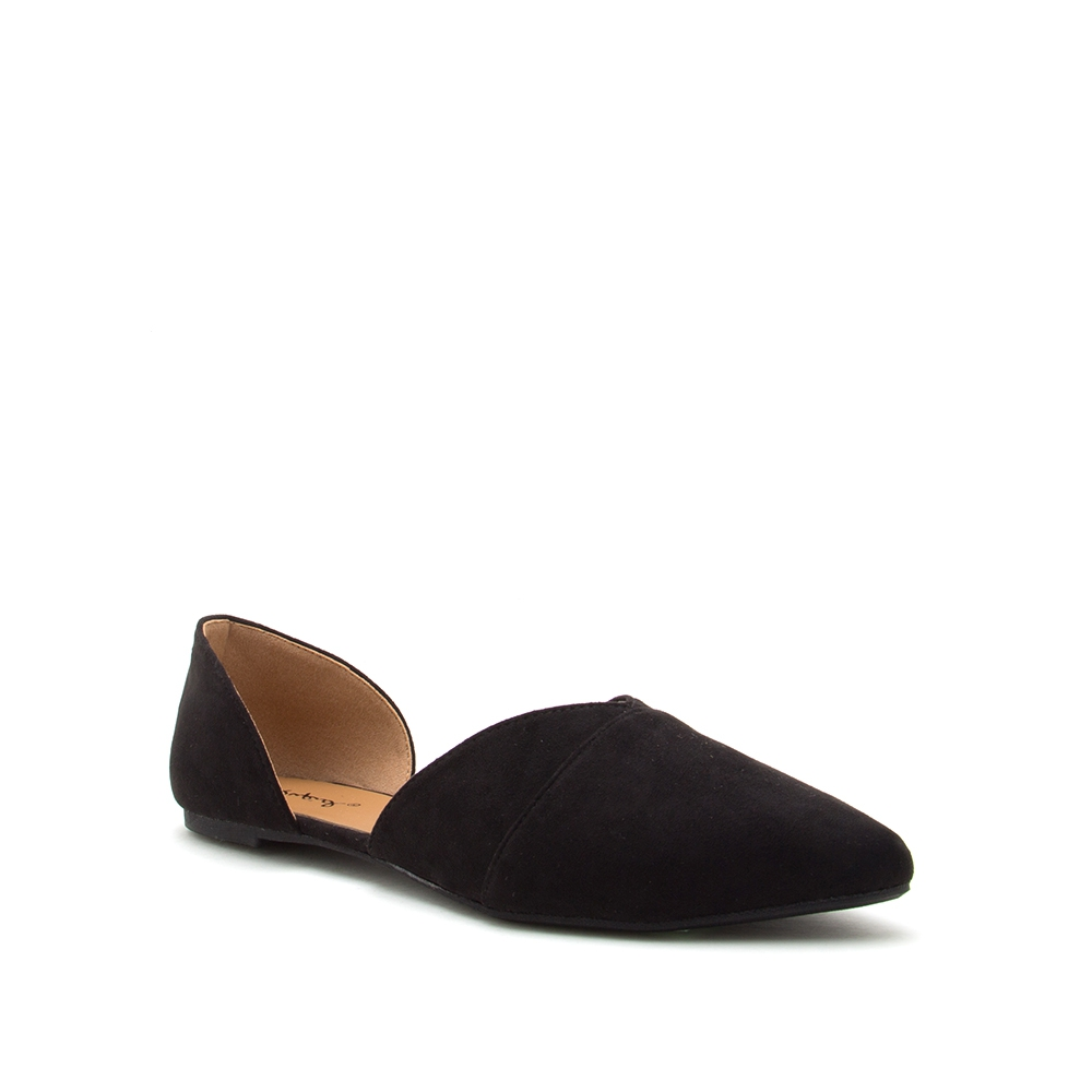 LADIES CLOSE TOE SIDE CUT OUT FLATS - orangeshine.com