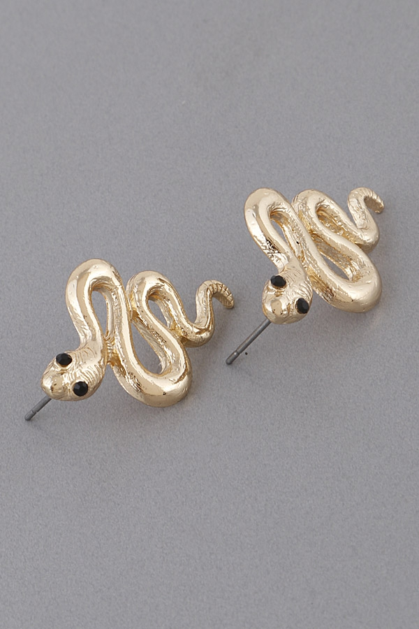 Egyptian Snake Charm Earrings - orangeshine.com