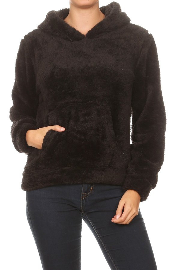 Fluffy Faux Fur Winter Sweaters Tops - orangeshine.com