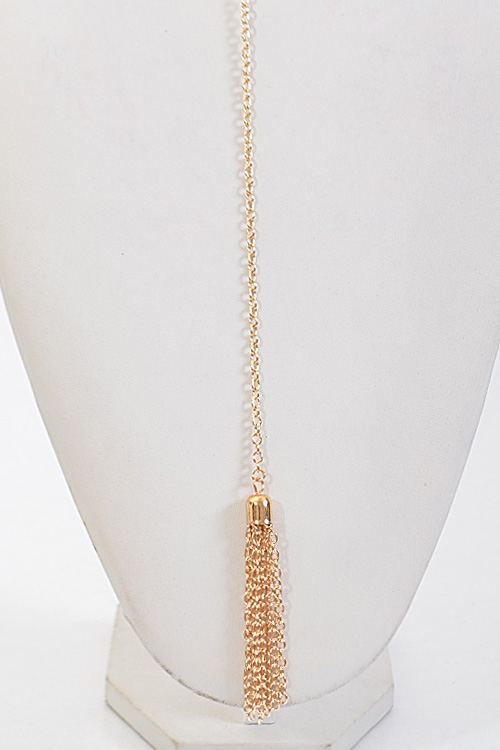 Simple Long Necklace With Tassel  - orangeshine.com